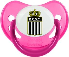 Royal Charleroi Sporting Club Tétine Physiologique Rose phosphorescente