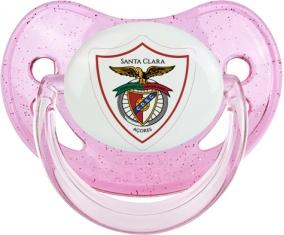 Clube Desportivo Santa Clara Tétine Physiologique Rose à paillette