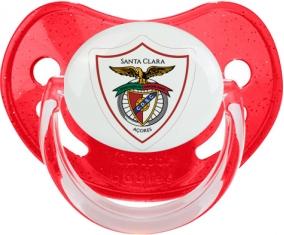 Clube Desportivo Santa Clara Tétine Physiologique Rouge à paillette