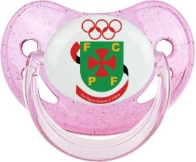 Futebol Clube Paços de Ferreira Tétine Physiologique Rose à paillette