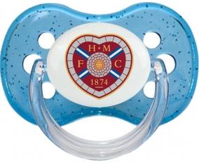 Heart of Midlothian Football Club Tétine Cerise Bleu à paillette