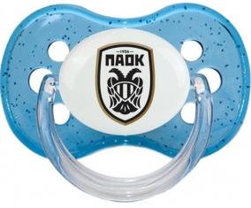 PAOK Salonique Tétine Cerise Bleu à paillette