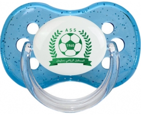 Avenir sportif de Soliman Tétine Cerise Bleu à paillette
