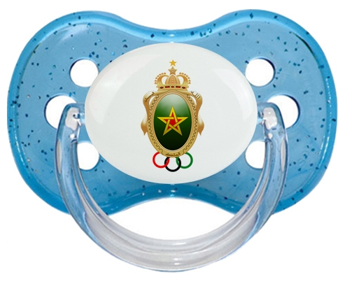 Association sportive des FAR Tétine Cerise Bleu à paillette