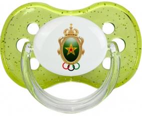 Association sportive des FAR Tétine Cerise Vert à paillette