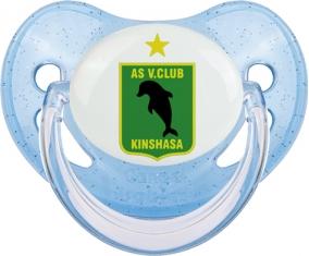 AS Vita Club Tétine Physiologique Bleue à paillette