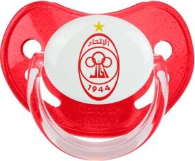 Al-Ittihad Tripoli Tétine Physiologique Rouge à paillette