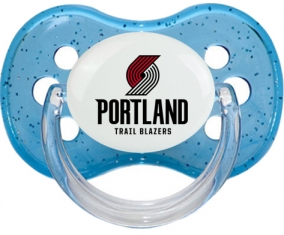PortlandTrail Blazers Tétine Cerise Bleu à paillette