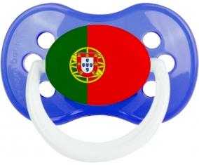Drapeau le Portugal Tétine Anatomique Bleu classique