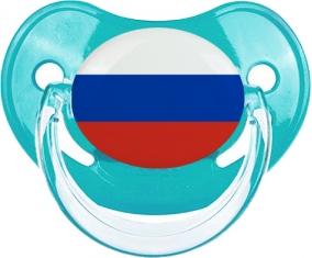 Drapeau Russie Tétine Physiologique Bleue classique