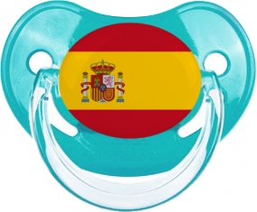 Drapeau Espagne Tétine Physiologique Bleue classique