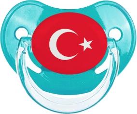 Drapeau Turquie Tétine Physiologique Bleue classique