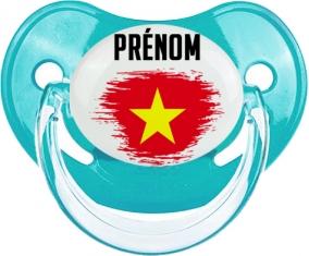 Drapeau effet pinceau Vietnam avec prénom Tétine Physiologique Bleue classique