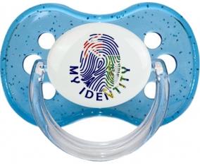 Empreinte My Identity Les iles vierges Tétine Cerise Bleu à paillette
