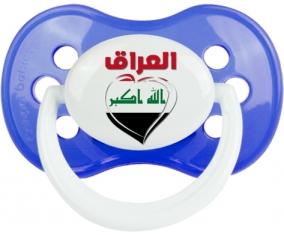 Irak en arabe + cœur Tétine Anatomique Bleu classique