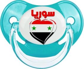 Syrie en arabe + cœur Tétine Physiologique Bleue classique