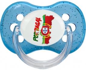 Portugal maps Tétine Cerise Bleu à paillette