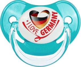 I Love Germany Tétine Physiologique Bleue classique