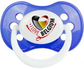 I Love Belgium Tétine Anatomique Bleu classique