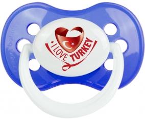I Love Turkey Tétine Anatomique Bleu classique