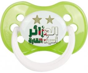 2 étoiles Algérie champions d'afriques Tétine Anatomique Vert classique