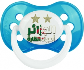 2 étoiles Algérie champions d'afriques Tétine Anatomique Cyan classique