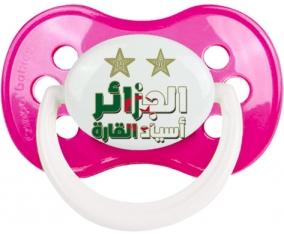 2 étoiles Algérie champions d'afriques Tétine Anatomique Rose foncé classique