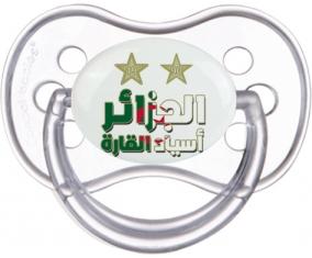 2 étoiles Algérie champions d'afriques Tétine Anatomique Transparente classique