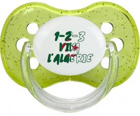 1 - 2 - 3 Viva L'algérie Tétine Cerise Vert à paillette