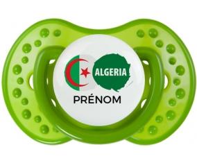 Drapeau Algeria avec prénom Tétine LOVI Dynamic Vert classique