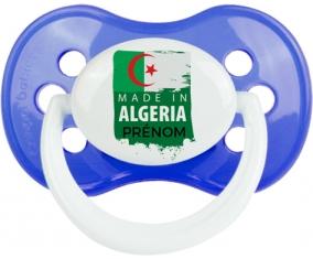 Made in Algeria design 3 avec prénom Tétine Anatomique Bleu classique