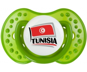 Flag Tunisia design 1 Tétine LOVI Dynamic Vert classique