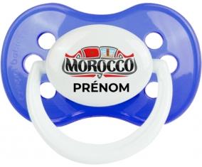 Morocco design avec prénom Tétine Anatomique Bleu classique