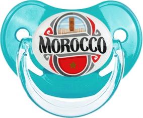 Flag Morocco design 2 Tétine Physiologique Bleue classique