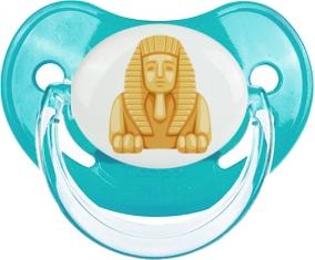 Statue de sphinx égyptien symbole de l'Égypte ancienne Tétine Physiologique Bleue classique