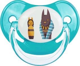 Chat égyptien déesse bastet chat noir Tétine Physiologique Bleue classique