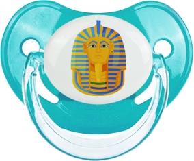 Symbole de masque doré pharaon de Toutânkhamon Tétine Physiologique Bleue classique