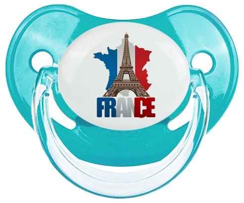 Carte France + Tour Eiffel Sucete Physiologique Bleue classique
