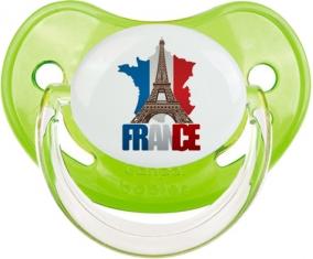 Carte France + Tour Eiffel Sucete Physiologique Vert classique