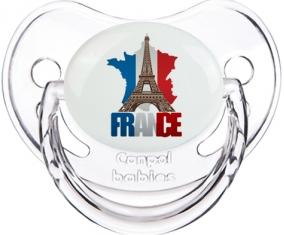 Carte France + Tour Eiffel Sucete Physiologique Transparent classique