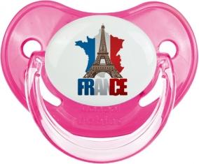 Carte France + Tour Eiffel Sucete Physiologique Rose classique