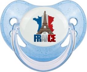 Carte France + Tour Eiffel Sucete Physiologique Bleue à paillette
