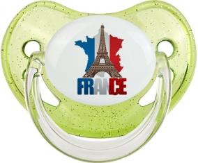 Carte France + Tour Eiffel Sucete Physiologique Vert à paillette