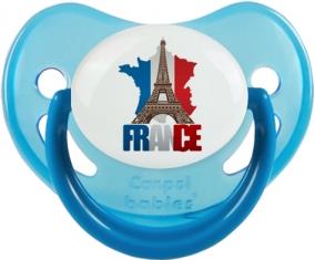 Carte France + Tour Eiffel Sucete Physiologique Bleue phosphorescente