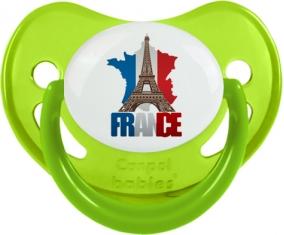 Carte France + Tour Eiffel Sucete Physiologique Vert phosphorescente