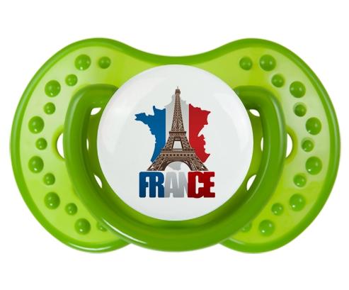 Carte France + Tour Eiffel Tétine LOVI Dynamic Vert classique