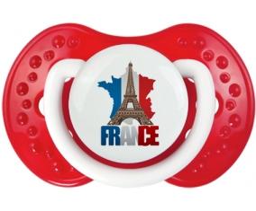 Carte France + Tour Eiffel Tétine LOVI Dynamic Blanc-rouge classique