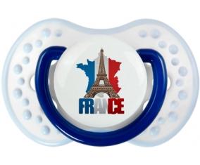 Carte France + Tour Eiffel Tétine LOVI Dynamic Marine-blanc-bleu classique