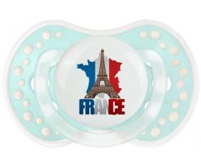 Carte France + Tour Eiffel Tétine LOVI Dynamic Retro-turquoise-lagon classique