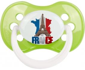 Carte France + Tour Eiffel Sucette Anatomique Vert classique
